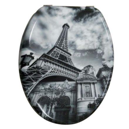 Immagine di Copriwater in mdf decoro parigi