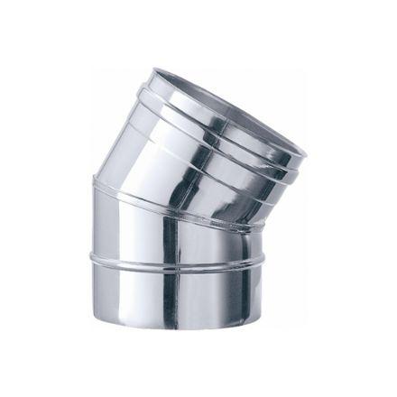 gomito45° acciaio inox finitura lucida 3 settori ø13cm