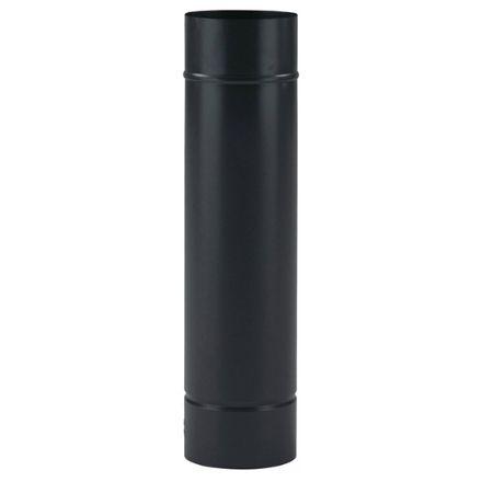 tubo per stufe smaltato - acciaio porcellanato nero opaco ø13x25cm