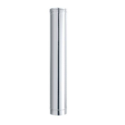 tubo acciaio inox finitura lucida ø 12x100cm