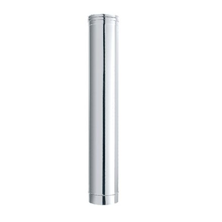 tubo acciaio inox finitura lucida ø 8x50cm