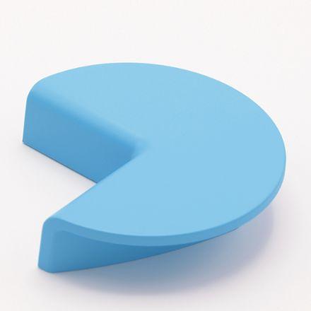 maniglia poliplast 321  con vite goffratto azzurro    per cassetti, comodini, armadi