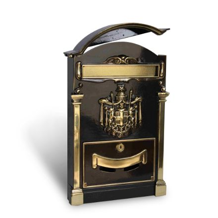 cassetta postale residence ottone brunito