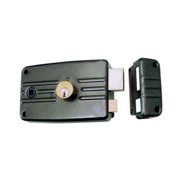 Serratura Iseo  da applicare portoncino senza aletta entrata mm 60  zincata destra