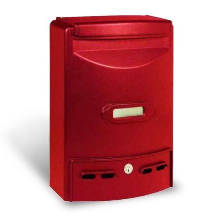 Alubox cassetta postale europa maxi rosso in alluminio pressofuso