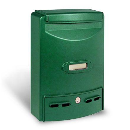 Alubox cassetta postale europa maxi verde in alluminio pressofuso