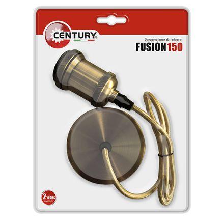 Porta lampade colore bronzo con cavo mt 1,5 attacco lampadina e 27