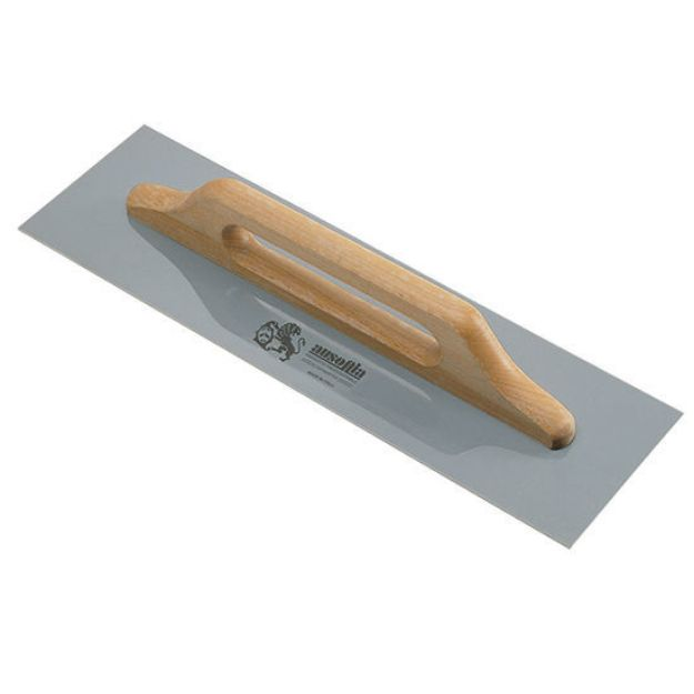 Immagine di Frattazzo Ausonia per stucco 48x12 cm lama acciaio inox manico legno