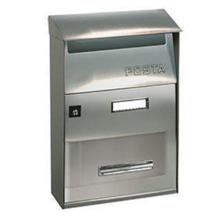 """Immagine di Alubox cassetta postale per esterno """"evo"""" l. 22 x h. 32,5 x p. 11 cm"""