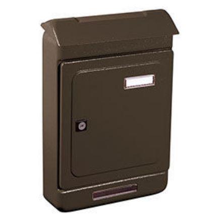 """Immagine di Alubox cassetta postale per esterno """"uno maxi"""" grigio l. 26,3 x h. 39,5 x p. 7 cm"""