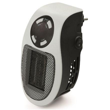 Mini termoventilatore a muro Pluggy potenza 500W  bianco senza cavo