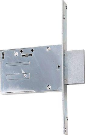 Serratura per inferriata entrata mm 60 per porte in ferro chiusura laterale