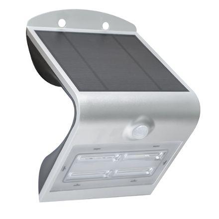 Applique sol. led arcadia1.5 silver 3,2w4000k colore bianco