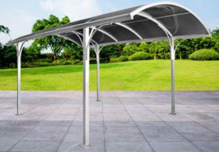 Immagine di Carport in alluminio tettoia in policarbonato misura 485x300x253h cm