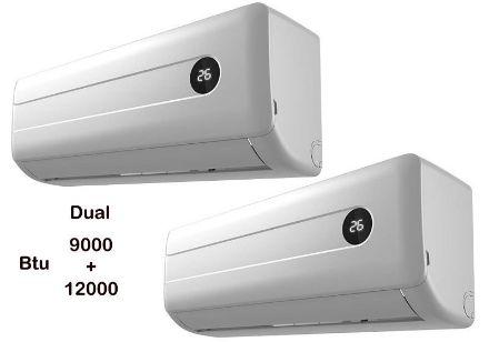 Immagine di Condizionatore climatizzatore dual inverter 9000+12000 btu classe a++/a+