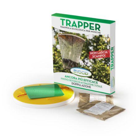 Trappola per mosche esca moschicida byocid trapper a ferormoni ammazza cattura
