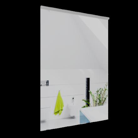 Immagine di Specchio filo lucido con lamp a filo su lato corto 60 x 80 cm