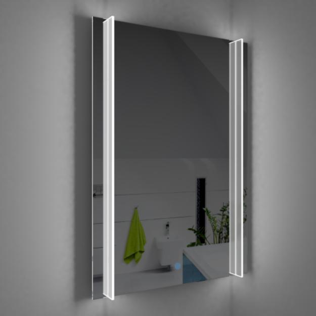 Immagine di Specchiera filo lucido con lamp su doppio lato L