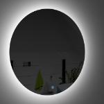Immagine di Specchio filo lucido con led perimetrale 90 cm