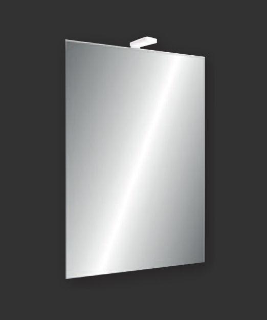 Immagine di SPECCHIO 65 X 45 CM FILO LUCIDO CON LAMPADA LED
