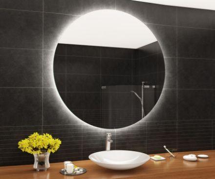 Immagine di Specchio filo lucido con led perimetrale 80 cm
